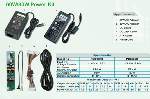 Morex 80W Power Kit